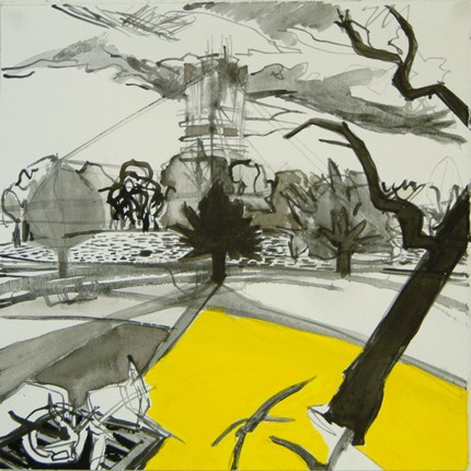 Urban Route 8 - acrylic on paper, 40 x  40 cm, 2007