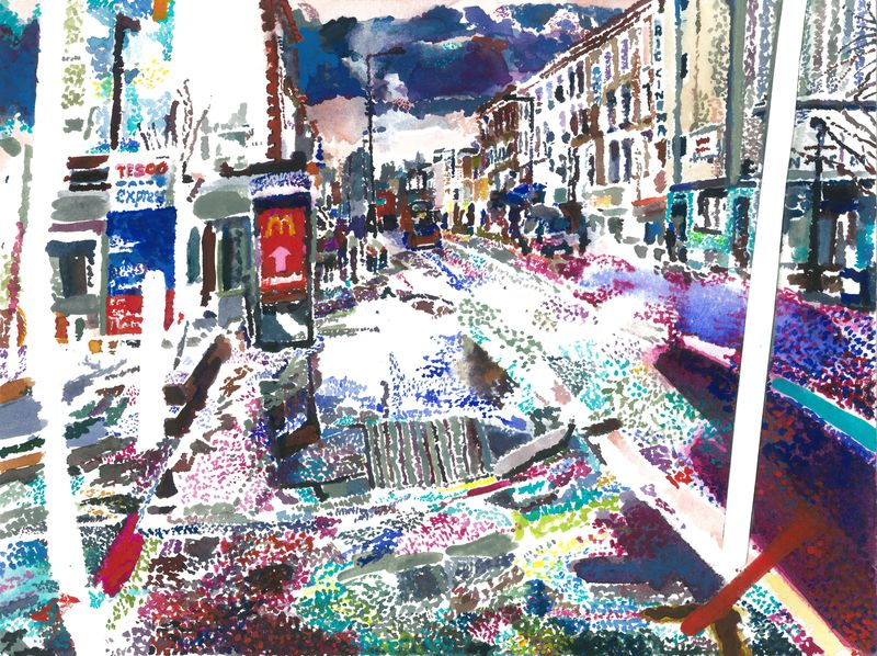 Kingsland Highstreet, limited edition giclee print